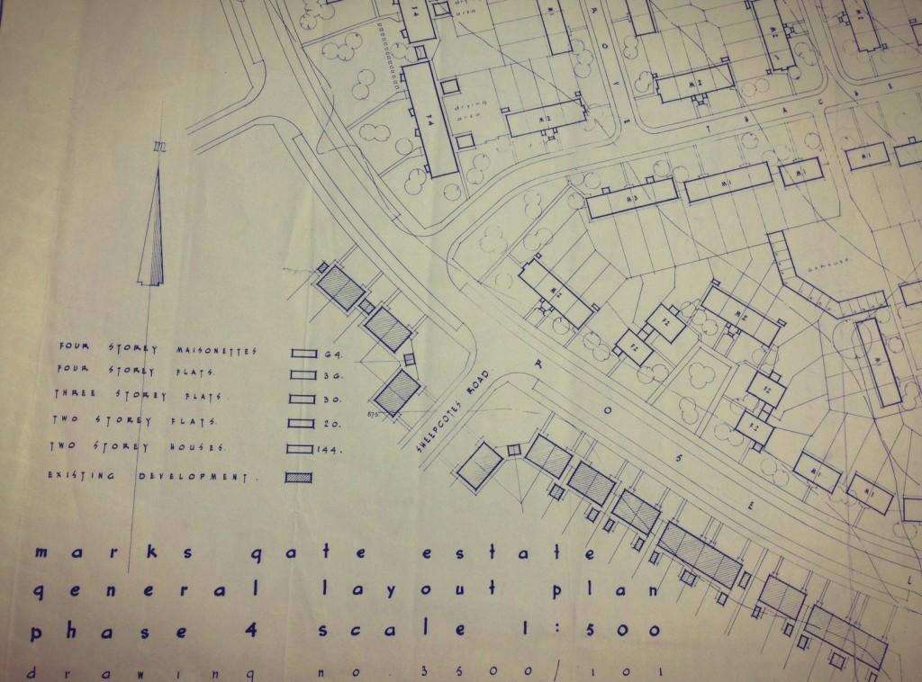 Marks Gate General Layout Plan 1954