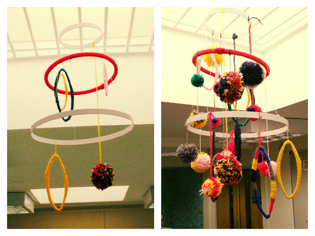Creative Cafe Pom Pom Chandelier Before & After