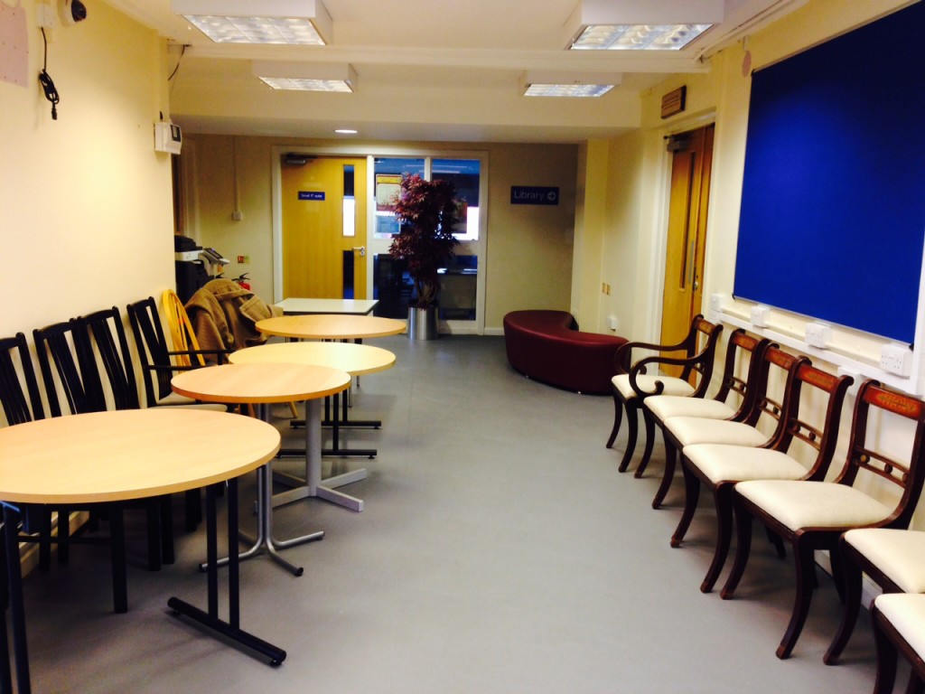 Marks Gate Community Centre Lobby with furniture